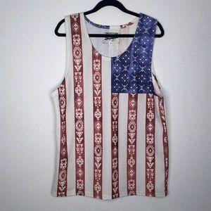 Brooklyn Cloth Patriotic American Flag Tank Top
